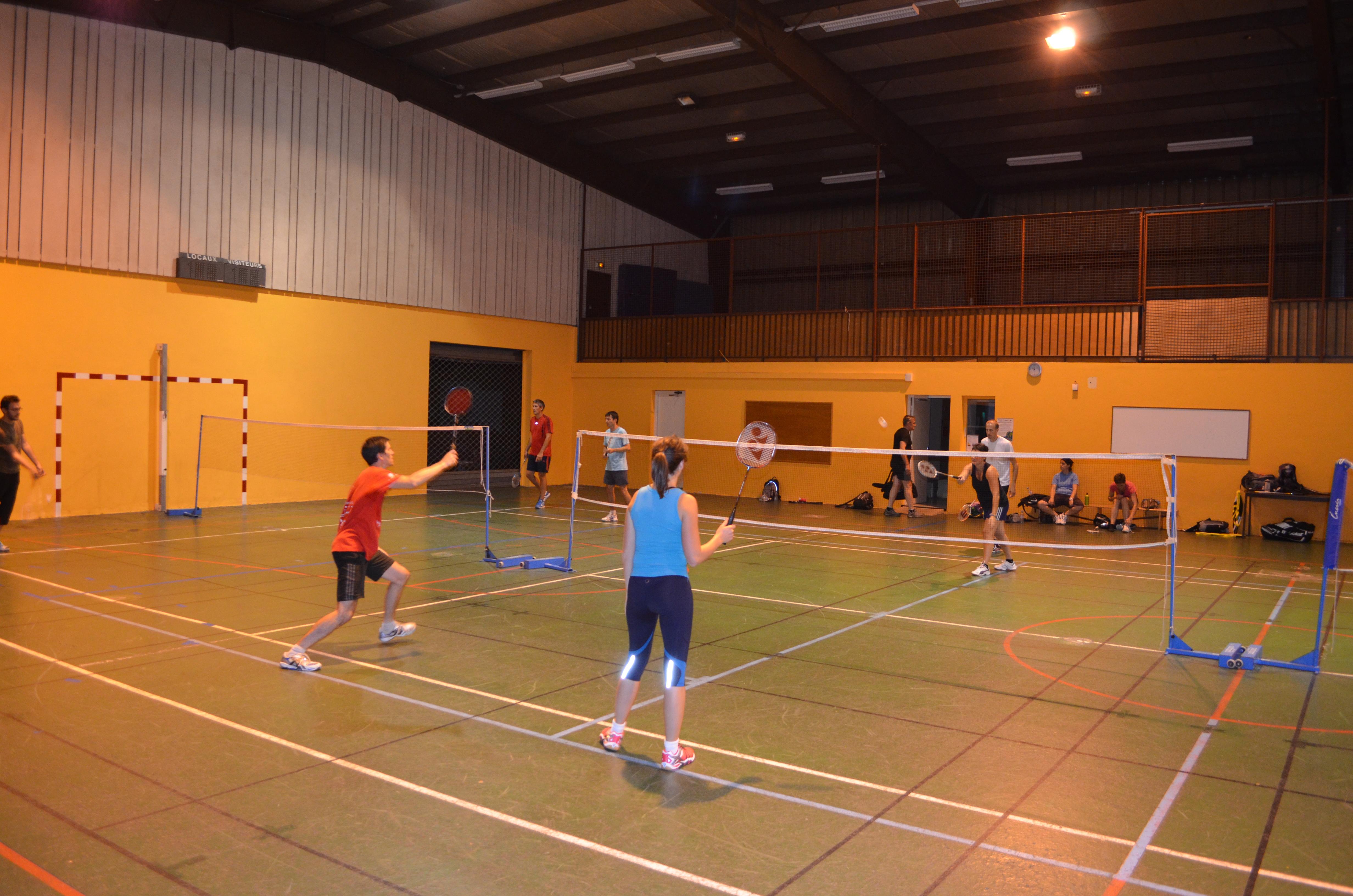 Entrainement badminton du mercredi