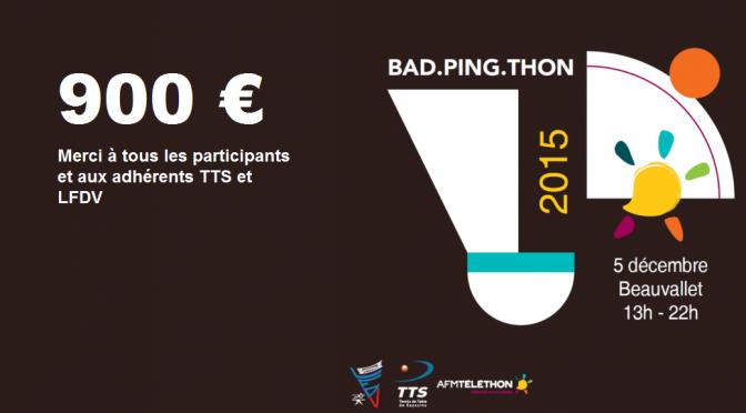BadPingThon 2015 : Merci aux participants et aux adhérents !